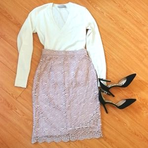 NWOT lace pencil skirt Uniqlo